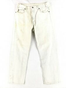 VINTAGE Gap 36x30 USA MADE Easy Fit Jeans White Denim Classic 90s Dad Casual