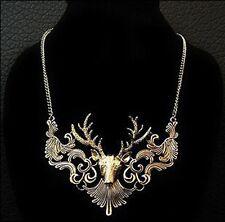 Charming Elk Deer Collar Pendant Statement Choker Necklace Popular Jewelry