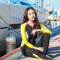 Women Lycra One Piece Hooded Diving Anti UV  Quick Dry Snorkeling Surf Wetsuit
