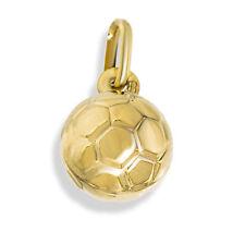 9CT GOLD FOOTBALL SOCCER BALL PENDANT CHARM FOR BRACELET OR CHAIN GIFT BOX