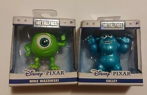 Monsters Inc Mike And Sulley Disney Pixar Metal Figs - 2 Figures