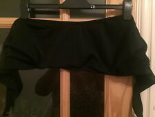 Ladies Plus Size 28DD/E Bandeau Black Bikini Too