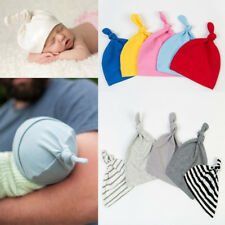 KQ_ FP- KF_ Cotton Beanie Newborn Baby Knotted Hat Boys Girls Soft Cap Infant To
