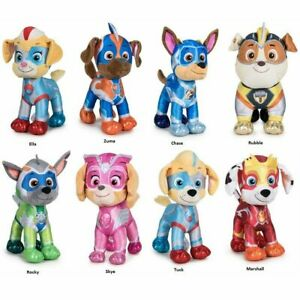 PAW PATROL SUPER PAWS MIGHTY PUPS PLUSH SOFT TOY 28CM PUPS BEST XMAS GIFT