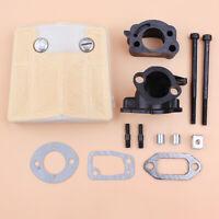Air Filter Intake Adaptor Bolt Kit For Jonsered 625 630 Chainsaw Muffler Gaskets