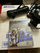 Sony PS3 Move Motion Controller Black Eye Camera & Charging Cable Plus Game