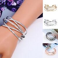 Fashion Women Multilayer Magnet Wrap Cuff Charm Bracelet Jewelry Gift Adjustable