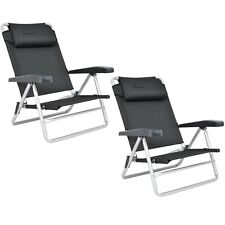 Isabella Beach Chairs Two of - Folding Lightweight Aluminium Low Camping Chairs