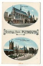 Greetings From Plymouth - Photo Postcard c1910 / Tucks