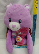 Care Bears Hug Me Back Share Bear 16 inch Plush, New in Box by Hasbro Purple!