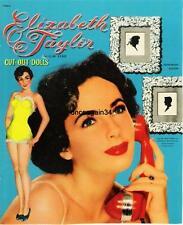 Vintage Uncut 1950 Elizabeth Taylor Paper Dolls~#1 Reproduction~Beautiful Set
