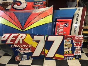 Robert Pressley Jasper Engines 77 Vintage Nascar Race Used Sheetmetal Side