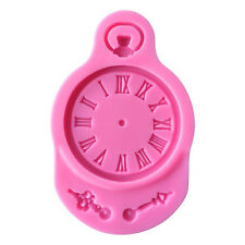 Hot Silicone Clock Shaped Mold Fondant Cake Mould Clock Watch Candy Baking Tool