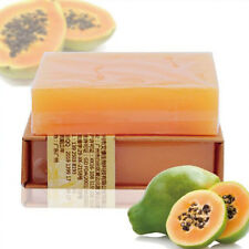 Natural Papaya Handmade Soap Skin Lightening Acne Moisturizing Cleansing Soap