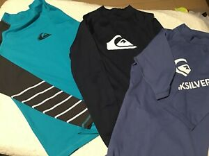 """Quiksilver Rashguards  UPF Protection  50+ Size 12 youth"""" Price Is For Each one"""""""