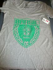 NWT CBG BRAZIL MLS BRAZIL WORLD SOCCER JUNIORS T-SHIRT GRAY MEDIUM