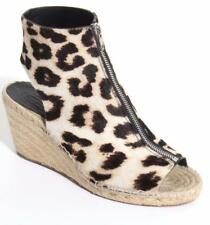 CELINE PHOEBE PHILO Womens Leopard Ponyhair Espadrille Open-Toe Wedge Heel 10-40