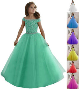 Wedding Flower Girls Dress Holy Communion Party Prom Princess Pageant Kids dress