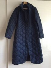 THE NORTH FACE WOMENS HOODED LONG GOOSE DOWN JACKET SIZE XL NAVY RRP $349 USD