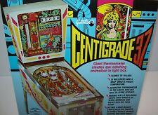 Centigrade 37 Pinball FLYER Original 1977 Retro Space Age Game Artwork Sheet NOS
