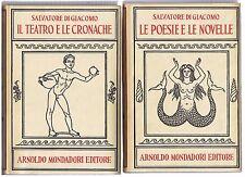 Di Giacomo IL TEATRO E LE CRONACHE + LE POESIE E LE NOVELLE Mondadori classici