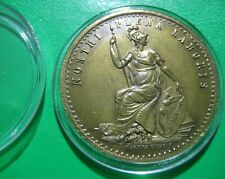 More details for rds royal dublin society admit one pass brass token irish ireland coin medallion