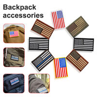 Embroidered American Flag Patches Patriotic USA MilitaryTactics Iron-On Sew DIY