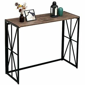 Sofa Table for Entryway No Assembly Small Living Room Wall Table for Hallway