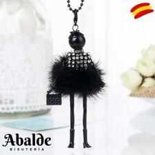 Collar Largo Colgante de Muñeca Articulada Parisina Regalo ideal Mujer Navidad