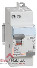Interrupteur Différentiel Legrand Dx3 63a 30ma 2 poles Type a - Vis / Auto