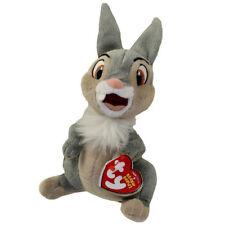 Disney Bambi THUMPER TY Beanie Baby Bunny Rabbit Children's Plush Gift Toy