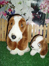 "OFFICIAL HUSH PUPPIES- PLUSH STUFFY - 6"" - 12"" -GREAT  USED CONDITION - LOT OF 2"
