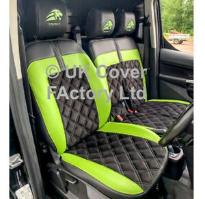 ALCANTARA AND LEATHERETTE VAN SEAT COVERS FORD TRANSIT CONNECT 2014 +  BENTLEY