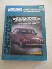 1974 - 1984 Mercedes cars Chilton's service manual