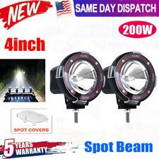 4 Inches 4x4 Off Road 6000k Round Xenon Hid Fog Lamp Light Spot Beam 2pcs Usa