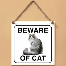 Norwegian Forest cat Beware of cat Targa gatto cartello ceramic tiles