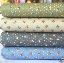 Mini Tulips 4 piece fat quarter bundle 100% cotton fabric for patchwork sewing