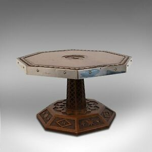 Antique Revolving Table Top Platter, Oak, Lazy Susan, Ecclesiastical, Victorian
