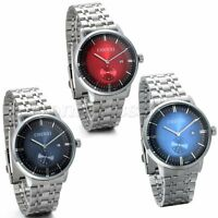Men's Watch Stainless Steel Band Date Analog Quartz Luxury Sport Wrist Watch