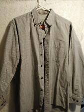 Haggar Men's Dress Shirt sz Med GENERATIONS 100% Cotton Gray +UnitedWayHelp oo3