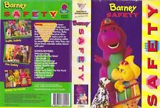 BARNEY SAFTEY VIDEO  VHS VIDEO PAL~ A RARE FIND~