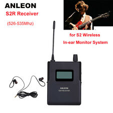 ANLEON S2-R Receiver For Stereo Personal In-ear Monitor Earphones 526-535Mhz UHF