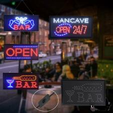 Ultra Bright Led Neon Light Bar Business Sign Board Club Display Open w/ On/Off