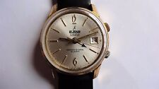 LEJOUR Remind-O-Date ALARM vintage watch handwinder Rare Serviced