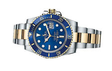 Rolex Submariner Watch 116613LB 2013 Blue Dial 18ct Gold Steel Bracelet