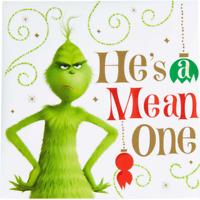 DR SEUSS CHRISTMAS GRINCH BEVERAGE NAPKINS PARTY DECORATION HE'S A MEAN ONE