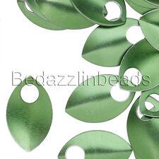 Lot of 8 Blank Aluminum 20mm Dragon Scale Teardrop Drop Charm Beads w/ 5mm Hole