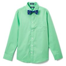 Boys IZOD green dress shirt bow tie set 20 NWT Easter nautical solid long whales