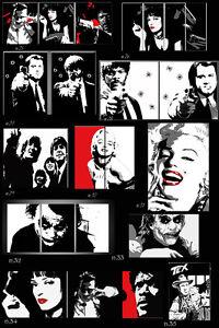 dipinto-malarei- pintura-pop art-pulp fiction-kill bill-marilyn-audrey-rocky-500