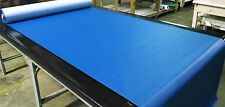 """Vinyl Fabric Pacific Blue 5 Yards Faux Leather Car Upholstry 54"""" W Pleather"""